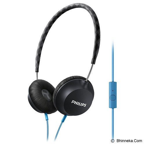 PHILIPS Lightweight Headphone with microphone [SHL 5105 BK] - Black - Headphone Portable